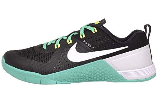 Nike Women's Wmns Metcon 1, Black/White-Hyper Jade-Volt