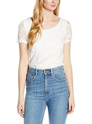 TOM TAILOR Camiseta Manga Corta (Blanco)
