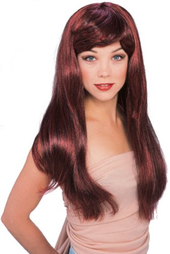 Rubie's Costume Red with Black Glamour Wig, Red/Black, One Size - 1