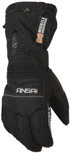 Mobile Warming TX Glove Men's Heated Textile Motorcycle Glove (Black, Medium)