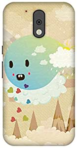 The Racoon Grip printed designer hard back mobile phone case cover for Motorola Moto G Plus 4th Gen. (Cuteness O)