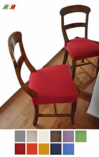 Antimacchia coppia di copri SEDUTA per sedia [PANNA]
