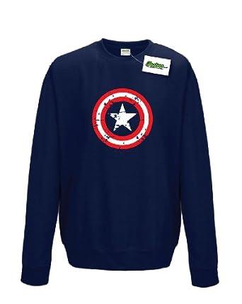 Captain shield inspired america superhero sweatshirt amazon co uk