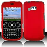 LG 900G for Stright Talk & Net 10 Accessory - Rubber Red Hard Case Proctor  ....