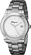 Salvatore Ferragamo Mens FF3960014 1898 Stainless Steel Watch