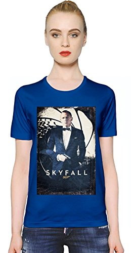 Skyfall James Bond T-shirt donna Women T-Shirt Girl Ladies Stylish Fashion Fit Custom Apparel By Slick Stuff Medium