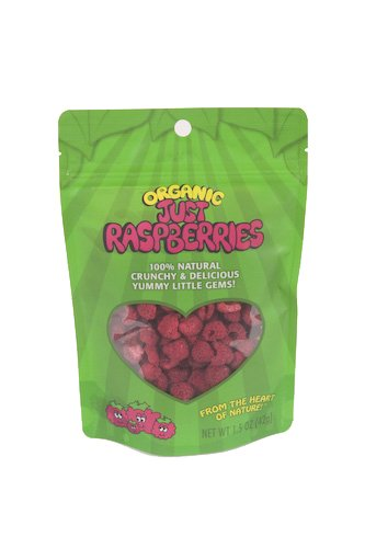 Just Tomatoes Organic Just Raspberries, 1.5 Ounce Pouch (Pack Of 4)