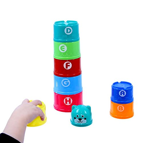Dazzling Toys Toddler Alphebets and Numbers Building Joy Cups (D257)