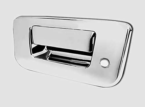 MaxMate 07-12 Chevy Silverado/GMC Sierra (Not for Classic) Chrome Tailgate Handle Cover Deluxe With Keyhole