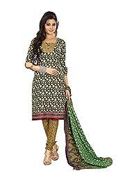 Khushbu Textile Women's Cotton Unstitched Salwar Suit (9011_Multicolor_Free Size)