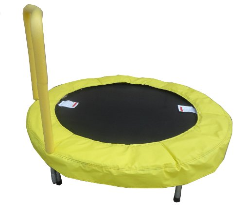 Bazoongi-48-Trampoline-Bouncer-with-Easy-Hold-Handle-Bar-Sunshine-Yellow-Special-Exclusive-Limited-Edition
