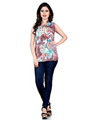 Shonaya Multicolour Colour Printed Georgette Stitched Kurti