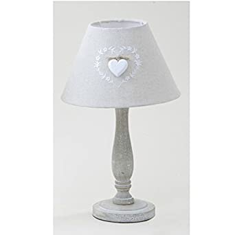 shabby chic white heart table lamp lighting. Black Bedroom Furniture Sets. Home Design Ideas