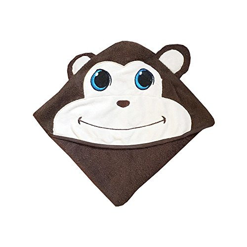 Plovf Monkey Baby Towel - Premium Soft and Absorbent Cotton Hooded Towel for Girls and Boys