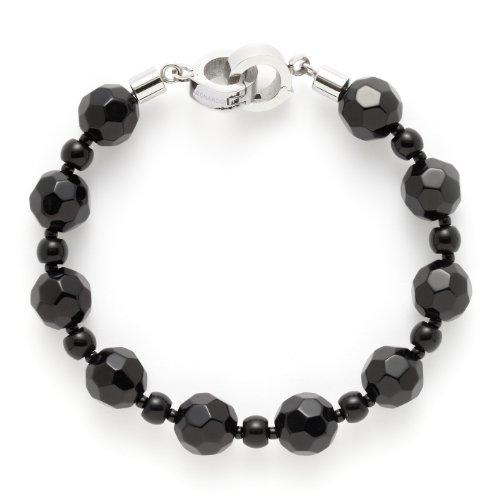 Leonardo Jewels Damenarmband Edelstahl + Glas 20,5cm Pearl schwarz