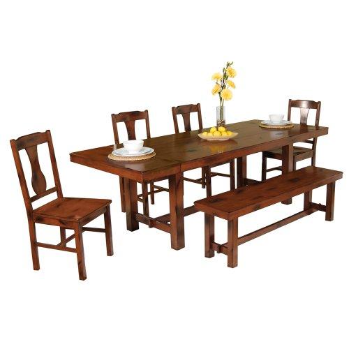 HomeFurnitureDecor 10 Buy WE Furniture 6 Piece Wood Dining Set Dark Oak