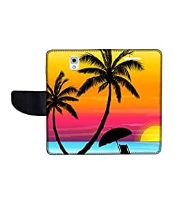 KolorEdge Printed Flip Cover For Samsung Galaxy Note 3 Multicolor - (55KeMLogo10975SamNote3)