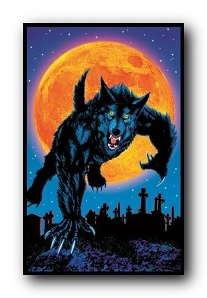 Full Moon Blacklight Poster