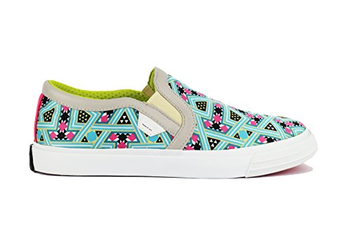 MOA MASTER OF ART mocassini donna slip-on multicolore tessuto pelle AH557 (36 EU)