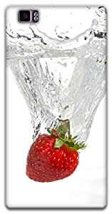 The Racoon Lean strawberry hard plastic printed back case / cover for Lenovo K900