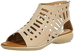 Craze Shop Girls Beige Artificial Leather Sandals - 9 UK