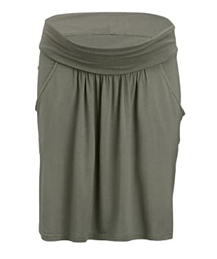 Maternity Khaki Roll Over Band Skirt