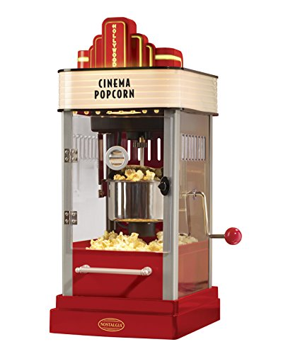 Nostalgia HKP200 Hollywood Series 2.5-Ounce Kettle Popcorn Popper with Personalized Lighted Marquee