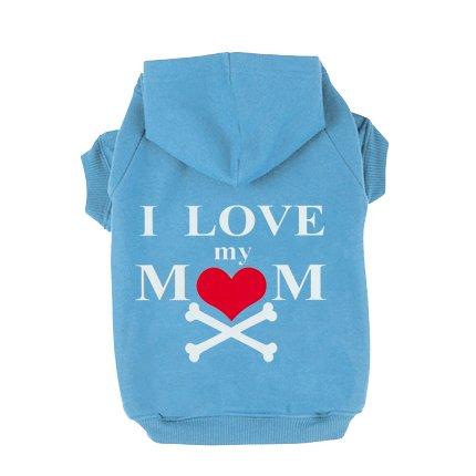 [EXPAWLORER I Love My Mommy Dog Cat Fleece Sweatshirt Hoodies Costumes Blue XXXL] (Weenie Costumes)