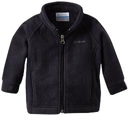 Columbia Baby Girls\' Benton Springs Fleece Jacket, Black, 3-6 Months