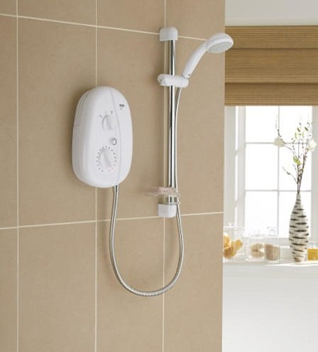 Mira Vie Electric Shower 9.5KW (White/Chrome)