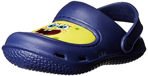 Nickelodeon Dora The Explorer Sponge Bob Basic Clog Backstrap Sandal (Toddler),Navy,10 M Us Toddler