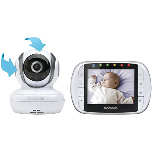 Motorola MBP36S Remote Wireless Video Baby Monitor with 3.5-Inch Color LCD Screen, Remote Camera Pan, Tilt, and Zoom (Motorola Monitor Extra Camera compare prices)