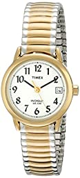 Timex Women\'s T2H381 Easy Reader Two-Tone Watch with Expansion Band