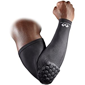McDavid 6500 HexPad Shooter Arm Sleeve, One Each Fits either Arm (Black, Small)