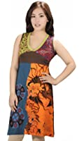 WOMEN SLEEVELESS DRESS WITH EMBROIDERY WORK - YINYAN