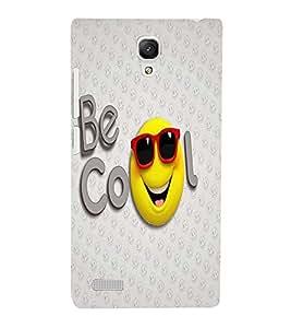 PrintVisa Cute Cartoon Cool Smiley 3D Hard Polycarbonate Designer Back Case Cover for Xiaomi Redmi Note Prime