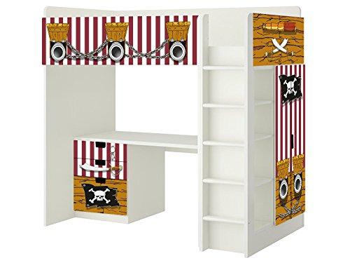 piraten aufkleber sh02 passend f r die kinderzimmer hochbett kombination stuva von ikea. Black Bedroom Furniture Sets. Home Design Ideas