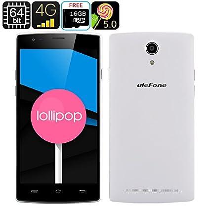 Ulefone Be Pro - Smartphone 4G Android 5.0 / Écran 5.5 pouces IPS OGS / CPU Quad Core / 2Go de RAM / Carte Micro SD 16Go offerte / Blanc
