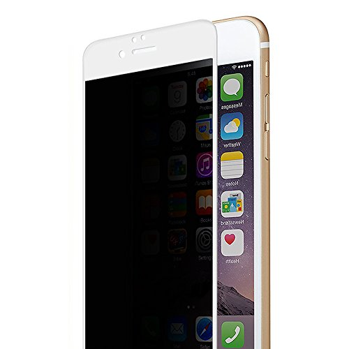 Petrelstore [4 Way Privacy Tempered Glass] High Transparent Screen Protector for iPhone 6 6S Plus,360 Degree Anti Spy Full Coverage Shield Cover 0.2mm 9H Hardnees (iPhone 6/6S Plus White)