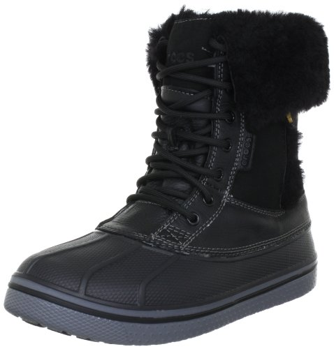 crocs AllCast Luxe Duck Boot Women 12812, Stivaletti donna, Nero (Schwarz (Black/Charcoal 70)), 36/37