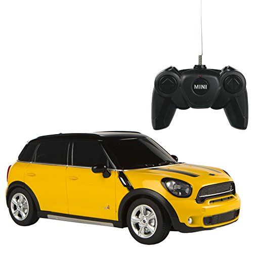 Rastar - Mini Countryman, coche teledirigido, escala 1:24, color amarillo (ColorBaby 41158)