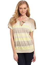 Lucky Brand Women's Mayan Ombre Georgina Top In Yellow Multi