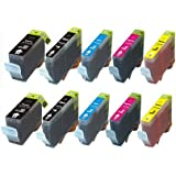 10 Pack Canon BCI-6 BCI-3e Compatible Ink Cartridges for Pixma i860 iP4000 iP5000 MP750 MP760 MP780