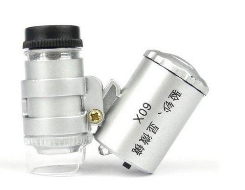 Crazy Shopping Illuminated Led Mini 60X Jeweler Loupe Magnifying Glass Microscope
