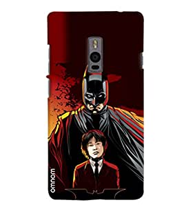 Omnam Batman With Student Printed Designer Back Cover Case For OnePlus Two