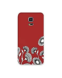 Samsung Galaxy S5 ht003 (190) Mobile Case from Mott2 - Flower Blossom - Red W... (Limited Time Offers,Please Check the Details Below)