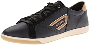 Diesel Men's Eastcop Grantor Low Fashion Sneaker, Black, 8.5 M US
