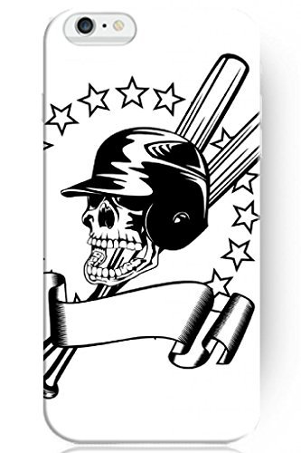 Generic Cute Design Apple 4.7 Inch Iphone 6 Hard Protective Case Cover for Teen Boys -- Skeleton Baseball Bat and Stars