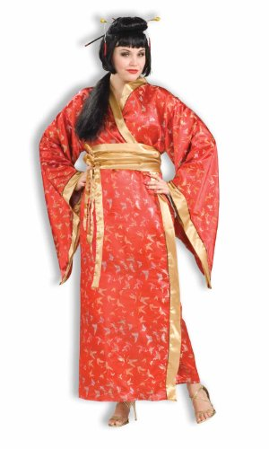 Woman's Madame Butterfly Costume, Brown/Beige, Plus Size