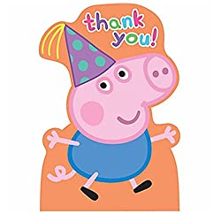 PARTY PROPZ PEPPA PIG THANK YOU TAG 12 PC